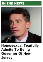 Homosexual Tearfully Admits to Being Governor of New Jersey
