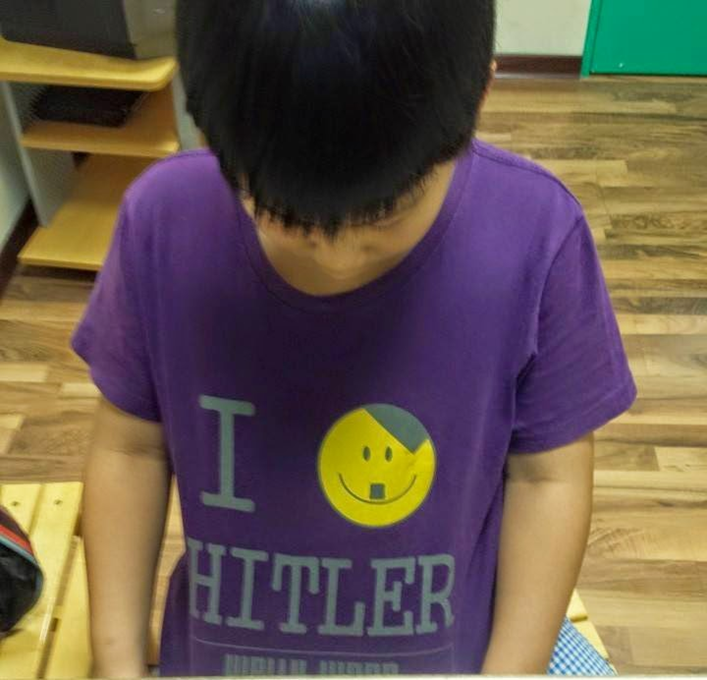 kid with hitler t-shirt